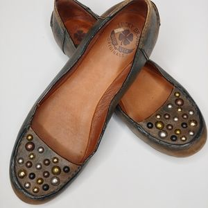 Lucky Brand Studded Leather Flats